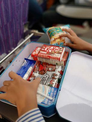 Inside Snack Box